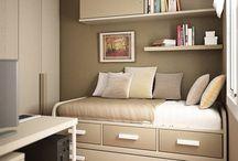 dormitorios juveniles pequeños / Dormí angeles