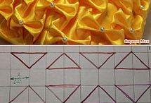 Сборки  резиновой ниткой выкройки