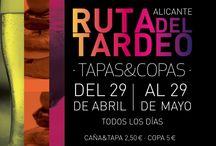 II RUTA del TARDEO #Alicante / rutadeltardeoalicante.com del 29 de abril al 29 mayo 2016