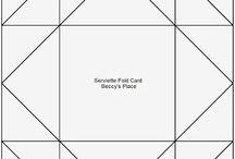 kartki składaki napkin fold card