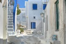 * greece....love the blues and whites! / by Sandi Evans
