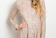 Peach Black Lace Dress $38.75 / It's all about Style