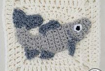 fish granny sq