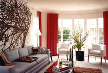 Living room / -red-black-white
