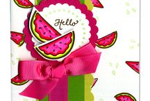 Craft: Cards-Watermelon