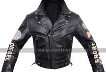 Diesel Racing Vintage Biker Patches Leather Jacket / Get this Rider Classic Diesel Motorcycle Leather Jacket at most affordable price from Sky-Seller and avail free Shipping.