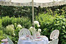 Lace garden umbrella