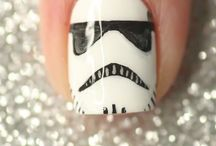 nail art star wars/harry potter