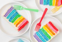 Cute and Colorful Food / Cupcakes, cookies, cakes, kid's party food ideas