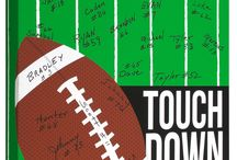 Sports: Football / The perfect keepsake for Football players, teams and coaches! #giftideas 12x12 hangable canvas that you can write on! #personalize #personalized #teamgift #football