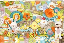 Easter scrapbooking kits / Scrapbooking kits and elements for Easter pages.