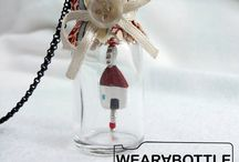our WEARaBOTTLE pendants collection / our 100% handmade glass pendants