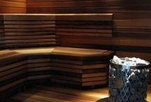 Sauna and bathroom