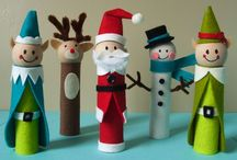 paper towel roll crafts christmas for kids / Christmas