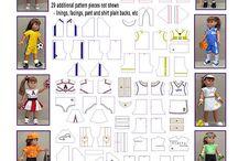 dukkeklær dolll pattern