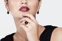 Celebration / Fabulous necklaces, earrings and rings set with vivid stones for a Special Occasion look.