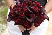 Букет невесты : бордо