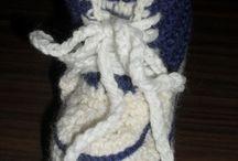 Вязаная обувь / схемы вязания детских пинеток и вязаной обуви для взрослых #pattern #knitting #crochet #booties #slipper