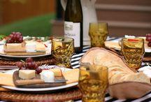 Parties: dining al fresco / Inspiration for outdoor Dinner Parties