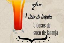 Ilustração / Receita tequila sunrise