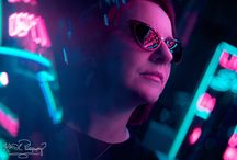 Neon-Lit Portraits by KMDC Photography / Neon portraits by me, KMDC Photography