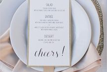Wedding Menu Cards / Design ideas for wedding menu cards