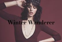Winter Wanderer / Holiday 2015 KNITZ. Bundle up this season in colorful and striped statement knitz - with cozy oversized silhouettes, lustrous silky yarns, chunky braid stitching, and hand-knotted fringe throughout. From slimming layering pieces to maxi hooded cardigans - we've got you covered from head to toe.
