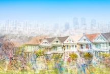 Impressions of San Francisco / Impressions of San Francisco. Digitally layered photographs. Art photographs on display at CK Contemporary. Limited edition photographs. Photography Fine Art
