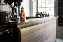 Wooden furniture for bar & restaurant / Furniture with wood and steel, best for bars, restaurant, hotel, vintage style house and many others