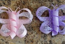 diy ribbon hair bows / how to make hair bows out of ribbon