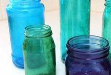 Teñir frascos de vidrio