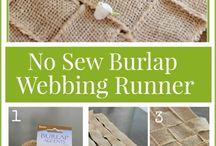 Burlap creations