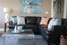 Black sofa decor ideas