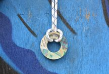 Upcycled Vintage Style Necklaces / Handmade Necklaces from Vintage Magazines