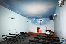Places of Worship / Laqfoil stretch ceilings that have been installed in places of worship.