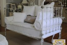 cast iron bed couches