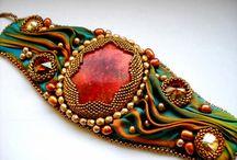 Shibori jewelry: ideas