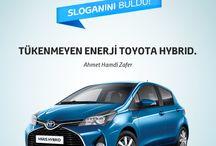 Hibrit Sloganını buldu. / 6-7 Aralık Toyota Hybrid Test Sürüş Günleri'ne katılanlara özel slogan yarışmamızın kazananları belli oldu!