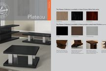 PLATEAU / Open, multi-level designs and unique storage compartments add to the timeless, mid-century modern appeal of Plateau.