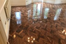 Walnut mansion weave flooring.