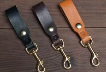 Mens/Womens  leather key fob