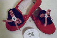 Patucos de fieltro y calzado personalizado