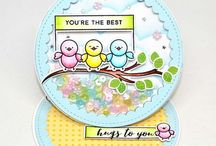 PPP: Scallop Circles Inspiration / A board filled with inspiration using the Pretty Pink Posh die set: Scallop Circles