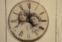 Shabby chic / Metall Uhr Mädchen