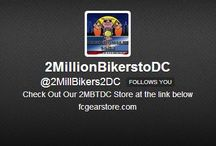Twitter, Facebook & DONATE / Follow us on Twitter, Like us Facebook, Pinterest / by 2 Million Bikers To DC 2MBTDC