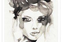 inkt portret