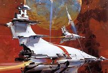 Vehicles (Space) / Spaceship & Starship Illustrations • Pinterest.com/ScottMonaco • More at: QuietYell.com