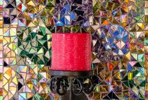 Mosaic sculptures and Candle sconces / Make a statement with these whimsical and artistic decor accents.