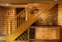 Wine rack under the stairs. / For the love of our home