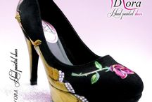 Beauty&Beast IV / https://www.facebook.com/pages/DORA-Hand-Painted-Shoes/144006675801939 #handpainted #hand #painted #shoes #scarpe #dipinteamano #dipinte #art #fashion #high #heels #plateaux
